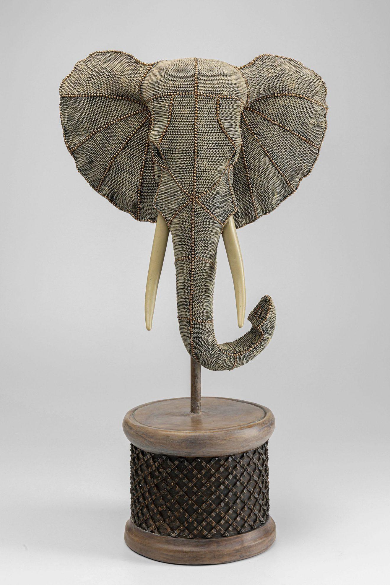 Kare 51919_Deko Elephant Head Pearls