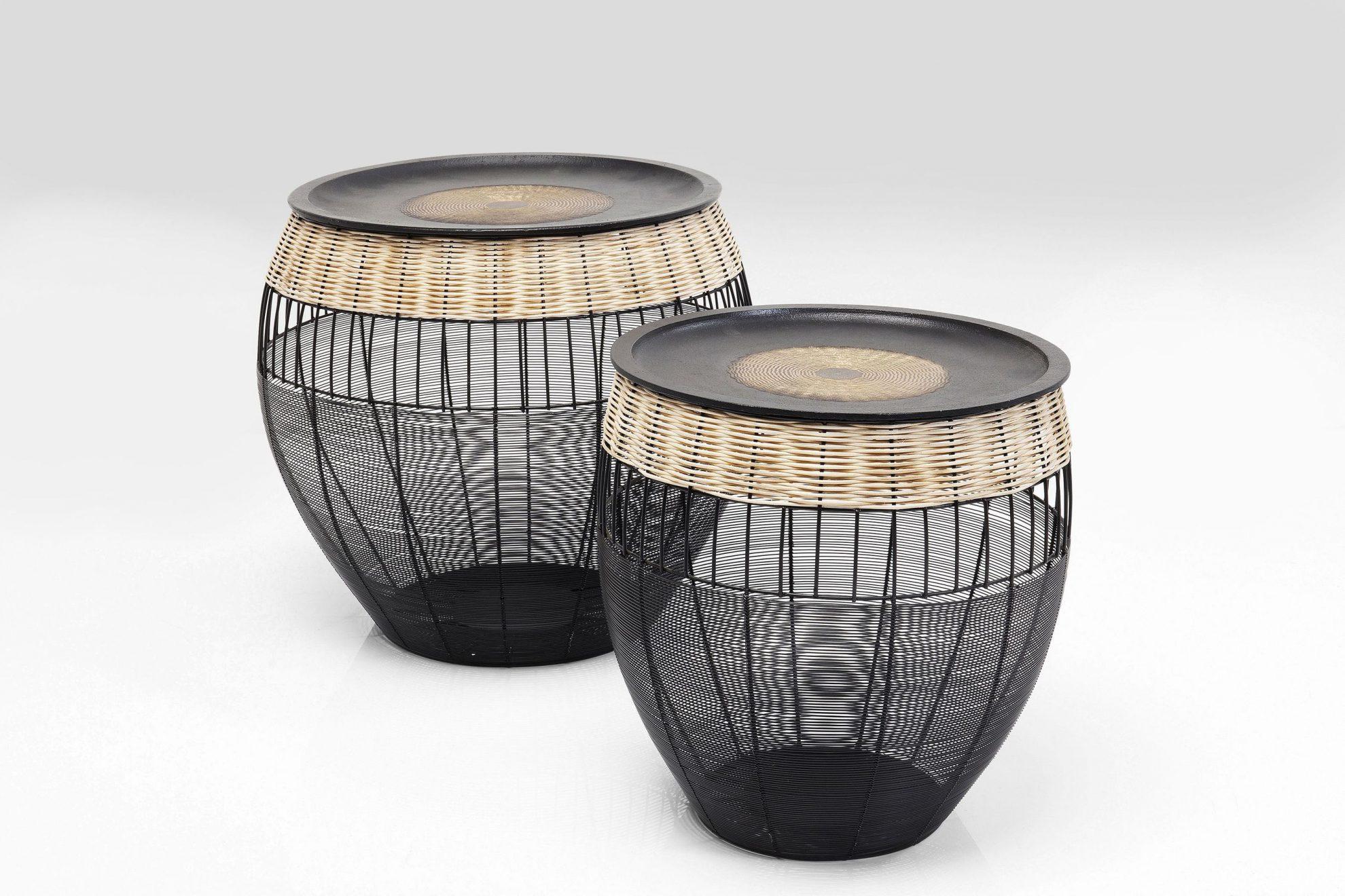 Kare 84390_Beistelltisch African Drums (2-er Set)